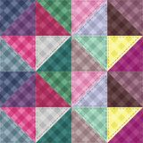 Patchwork background with decor elements Stock Image