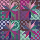 Patchwork background with decor elements Royalty Free Stock Images