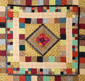 Patchwork. A patchwork background with different colored patterns royalty free stock photography