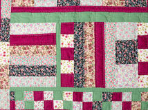 Patchwork. A patchwork background with different colored patterns Royalty Free Stock Photo