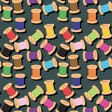 Patchwork background with different colors patterns Stock Image