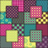 Patchwork background with different colors patterns Royalty Free Stock Photography