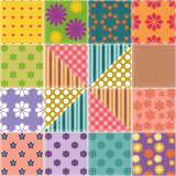 Patchwork background Stock Images