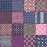 Patchwork background with different patterns Stock Image
