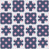 patchwork background with different patterns Royalty Free Stock Image