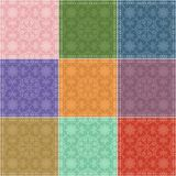 Patchwork background with different patterns Royalty Free Stock Photography