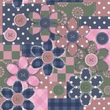 Patchwork background with different patterns and f Royalty Free Stock Photography