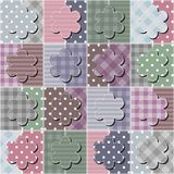 Patchwork background with different patterns Stock Images