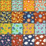 Patchwork background with different patterns Stock Photography