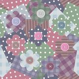Patchwork background with different patterns Royalty Free Stock Images