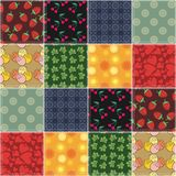 Patchwork background with different patterns Stock Photo