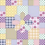 Patchwork background with different patterns Royalty Free Stock Photo