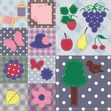 patchwork background with different scrapbook obj Royalty Free Stock Image