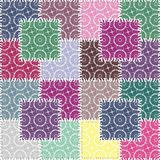 Patchwork background with different patterns illustration Royalty Free Stock Photos
