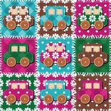 Patchwork background with different patterns illustration Stock Photography