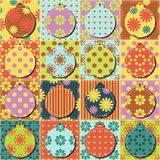 Patchwork background with different patterns illustration Royalty Free Stock Photography