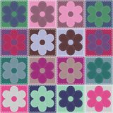 Patchwork background with flowers Stock Images