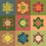 Patchwork background with flowers Stock Photography