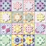 Patchwork background with flowers Royalty Free Stock Photos