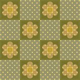 Patchwork background with flowers Royalty Free Stock Photography