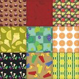 Patchwork background with food and drinks Royalty Free Stock Photos