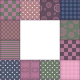 Patchwork background with frame Royalty Free Stock Photography