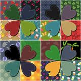Patchwork background with frame Stock Photos