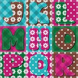 Patchwork background with letters illustration Stock Photography