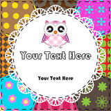 Patchwork background with owl