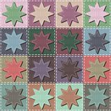 Patchwork background with stars. Patchwork art background with stars different colors Stock Photo