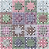 Patchwork background with stars Royalty Free Stock Photography