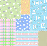 Patchwork backgrounds. The computer generated illustration Royalty Free Stock Image
