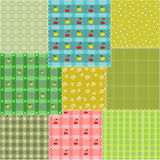 Patchwork backgrounds. The computer generated illustration Stock Photo