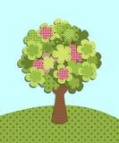Patchwork-Baum stock abbildung