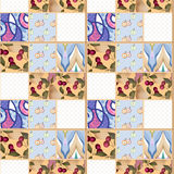Patchwork berry pattern with cherry background Royalty Free Stock Photo