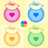 Patchwork bibs Stock Photos
