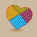 Patchwork big heart  illustration Royalty Free Stock Photo