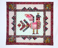 Patchwork blanket Stock Image