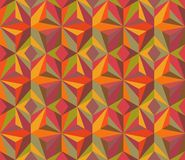 Patchwork blanket. Vector multicolored geometric mosaic. Stock Image