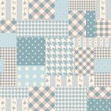 Patchwork bleu des rectangles Images libres de droits