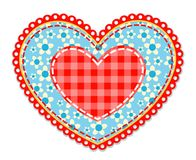 Patchwork blue and red heart Royalty Free Stock Photography