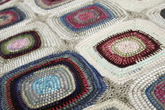 Patchwork, braided rug Stock Images