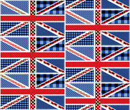 Patchwork of british flag Stock Image