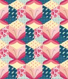 Patchwork with butterflies. Royalty Free Stock Photo