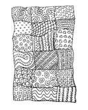 Patchwork carpet, sketch for your design Stock Photos