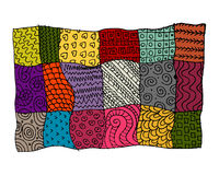 Patchwork carpet, sketch for your design Royalty Free Stock Image