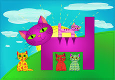 Patchwork cats family (vector) Stock Photography