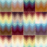 Patchwork with chevrons of stains Royalty Free Stock Images