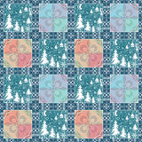 Patchwork christmas seamless pattern background Stock Images