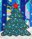 Patchwork Christmas tree Royalty Free Stock Photo